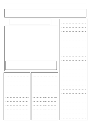 a blank newspaper template by ljj290488 teaching resources tes
