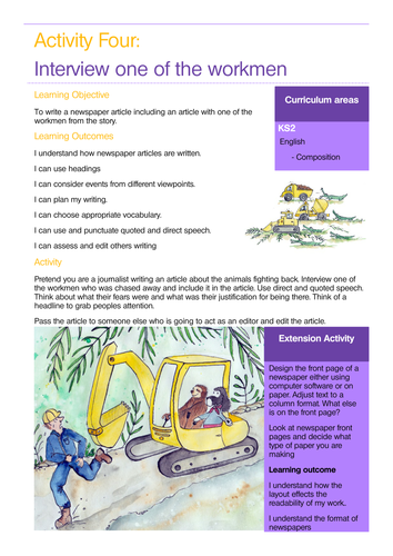 Rainforests KS2 Sample Lesson Plan Linked to Story