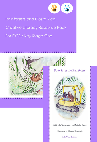 Rainforests 6 week lesson plans linked with story book