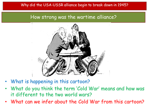 Origins of the Cold War SOW