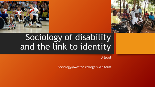 Disability - the sociology of disability