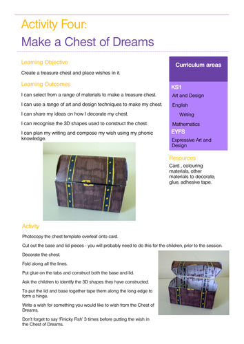 Pirates sample lesson plan linked to a story for EYFS/KS1