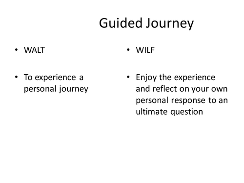 UTLIMATE QUESTIONS GUIDED JOURNEY