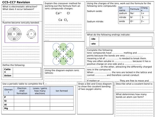 Edexcel Cc5 Cc7 Revision Worksheet Teaching Resources