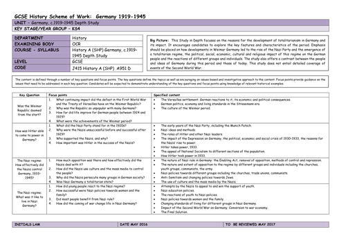 Germany 1918 1945 A Depth Study PDF EPUB Download
