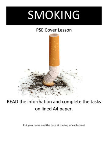 SMOKING  Cover Lesson WORKSHEETS