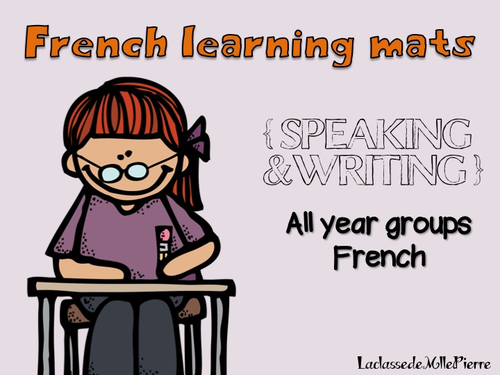 French learning mats for desks {SPEAKING&WRITING}