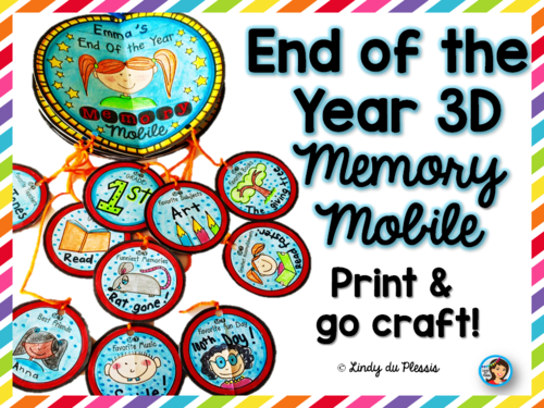 End of the Year 3D Memory Book Mobile