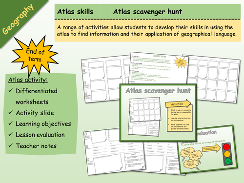 Geography - Atlas Scavenger Hunt 1