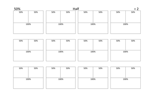 Percentages with bar diagrams templates for strategies - visual scaffolding for students