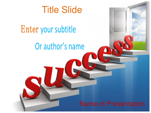 Success ppt template by templatesvision teaching resources tes toneelgroepblik Choice Image