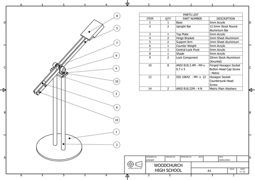 WJEC L1/2 Engineering Unit 2 Resources (Lamp) by