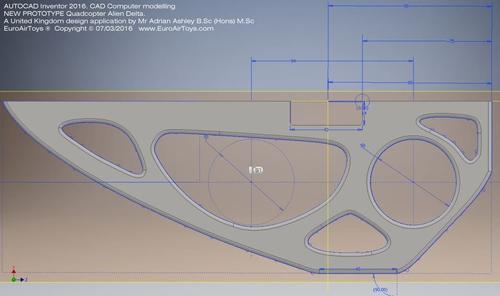 Product Design Development Quad-copter Alien Delta