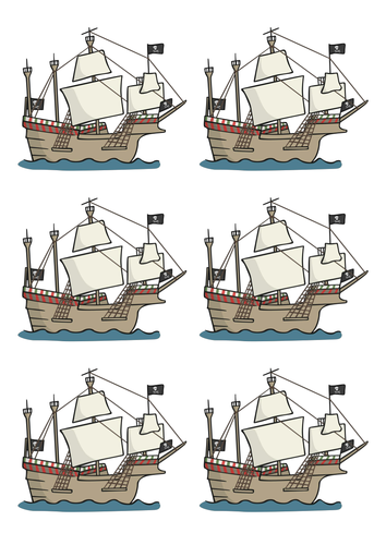 Label a pirate ship.
