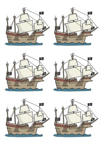 Label a pirate ship.