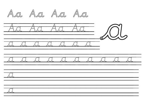 Pre-cursive handwriting sheets by rach_b | Teaching Resources