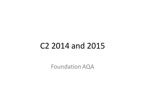 AQA  C2 Revision Exam Q&A