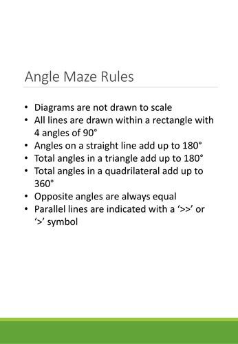 Angle Maze - 20 Angle problems to solve