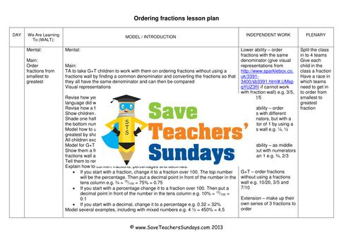 ordering fractions ks2 worksheets lesson plans. Black Bedroom Furniture Sets. Home Design Ideas