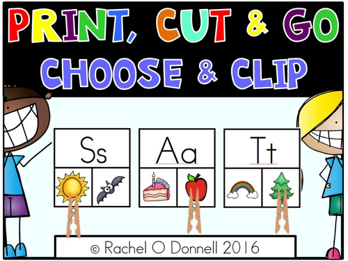 Phonics Center Choose and Clip