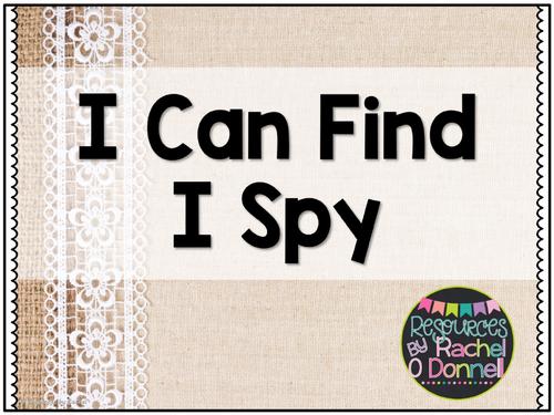 Phonics Center I Can Find I Spy