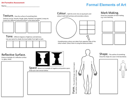 Still LifeCubism Power Point and Worksheet by helenm23 Teaching – Art Analysis Worksheet