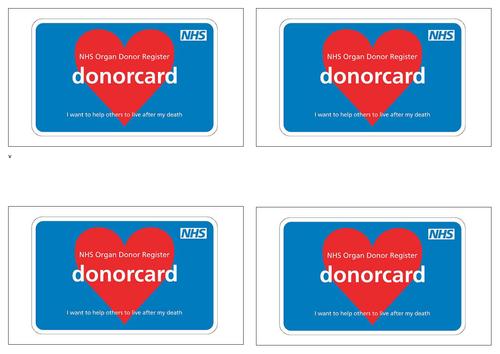 KS3 Organ Donor and Transplant Lesson