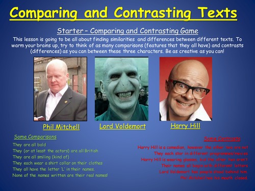 New GCSE English Language - Comparing and Contrasting