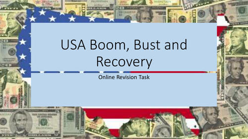 USA Boom, Bust and Recovery Route H New AS/A2 Edexcel revision PowerPoint
