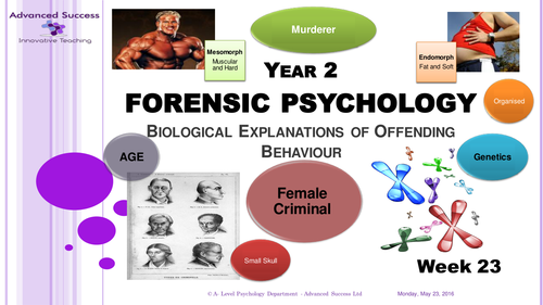 Year 2 Powerpoint Week 23 - Option 3 Forensic - Biological Explanations of Offender Profiling