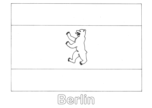 Germany's State Flags Outline Colouring Sheets