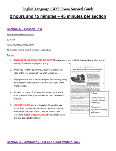 Edexcel English Language iGCSE survival guide