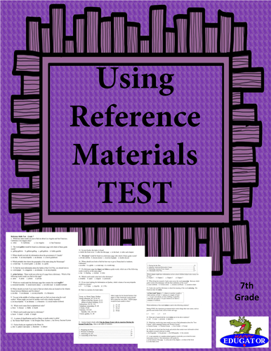 Using Reference Materials TEST
