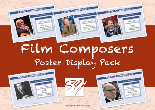Film Composers – Music Classroom Poster Display Pack