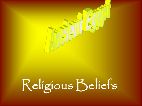 Ancient Egyptian Religious Beliefs