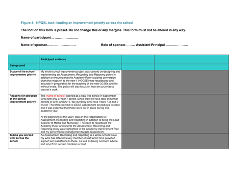 NPQSL - Combined Task (Full Project including additional resources ...