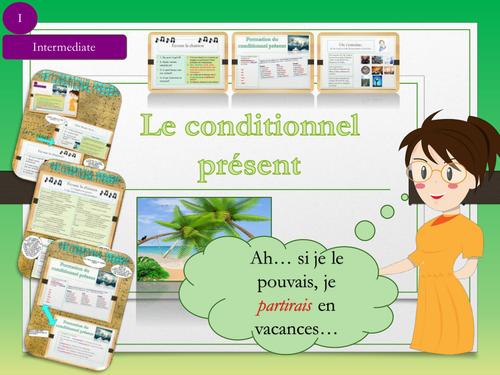 French Grammar : Conditional tense (lesson+exercices)/ Le conditionnel en français No Prep