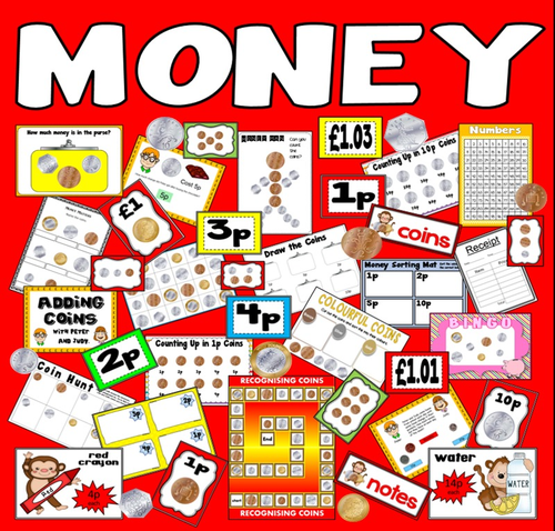 early years year one money sheet matching coins by poppyt uk teaching resources tes. Black Bedroom Furniture Sets. Home Design Ideas