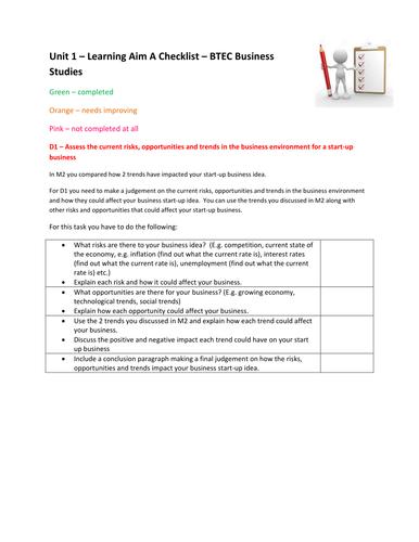btec business level 2 unit 1 assignment
