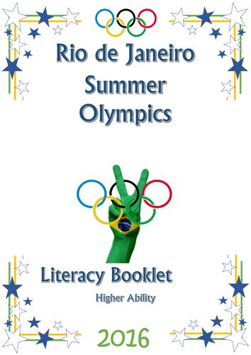 Rio Olympics 2016 themed literacy activities