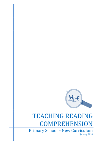 Teaching Reading Comprehension - New Curriculum