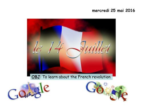 La Revolution francaise -Le 14 Juillet 1789