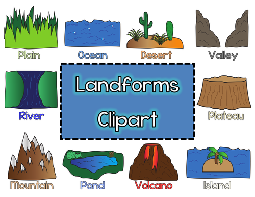 Landforms Clipart by LyndsDive - Teaching Resources - Tes