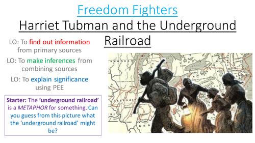 Harriet Tubman and the Underground Railroad by ruthmessenger – Underground Railroad Worksheet