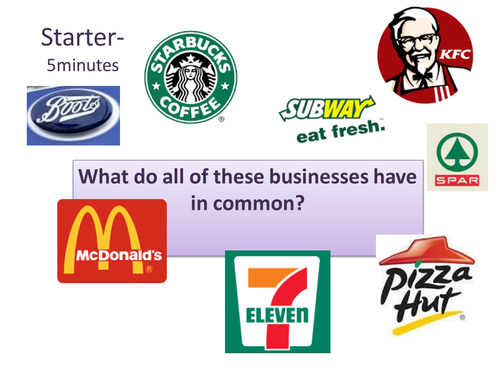 Business Ownership- Franchise