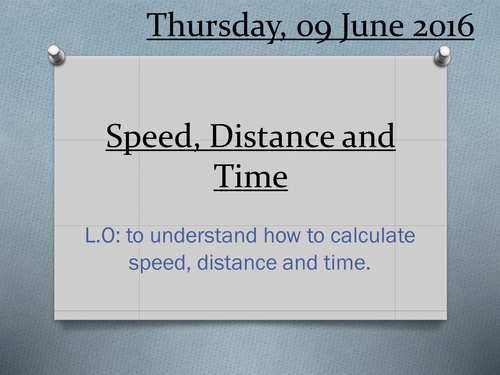 Compound measures - Speed lesson