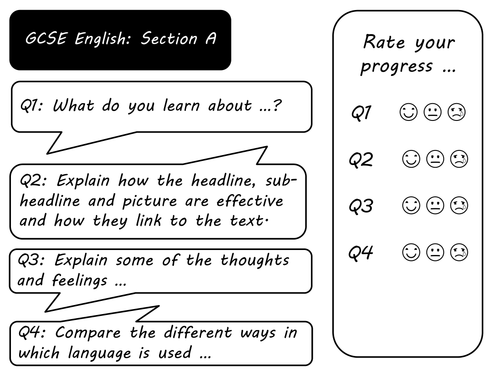 Revision pack for AQA English exam section A