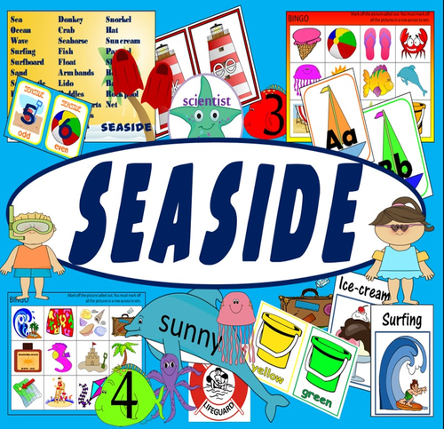 seaside topic and role play resource ks1 eyfs summer holiday animals by hayleyhill teaching. Black Bedroom Furniture Sets. Home Design Ideas