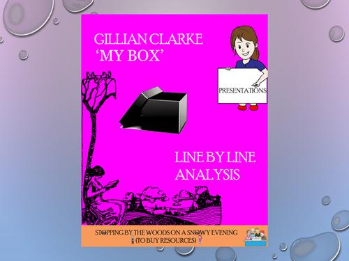 'My Box' - Gillian Clarke - Line by Line analysis