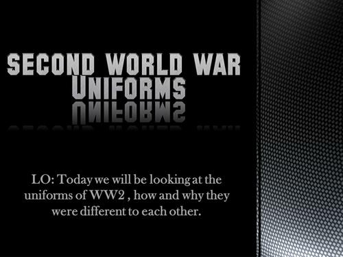 World War Two Uniforms KS2 (Year 5+6)